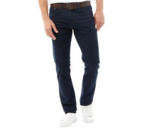 Herren Stretch Zip Fly Stretch Jeans in Slim Passform Dunkelblau