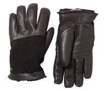 UGG Australia Womens Cascade Blocked Leather Glove Black/Light Grey