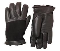 Damen Cascade Blocked Handschuhe Schwarz
