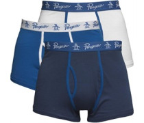 3 Packung Boxershorts in lose Passform Blau