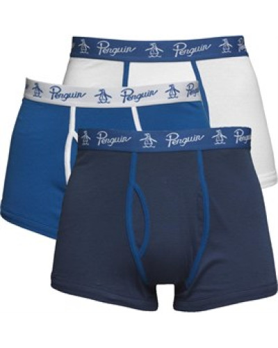 3 Packung Boxershorts in lose Passform Blau