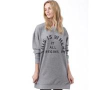 Damen Arrangement Overhead Sweatshirt Graumeliert