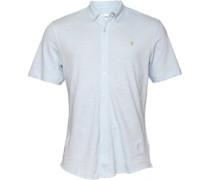 Farah Vintage Herren yton Slim Bell Hemd mit kurzem Arm Blau