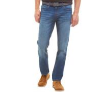 Herren Stretch Denim Jeans mit geradem Bein Blau
