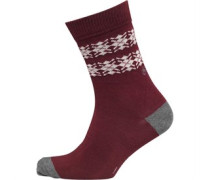 Peter Werth Herren Cannan Chunky Socken Rot
