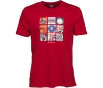 Herren 9 Music Symbols T-Shirt Rot