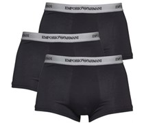 Herren 3 Pack Trunks Boxershorts Schwarz