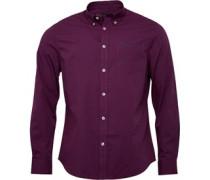Herren Standard Gingham Hemd mit langem Arm Triumph Red
