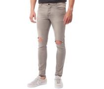 Herren Albatross Ripped Skinny Jeans Hellgrau