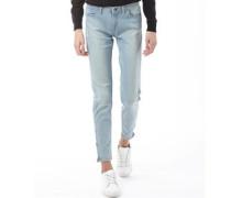 Damen Knöchel Jeans Blue Denim