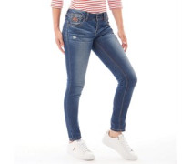 Cassie Skinny Jeans Verblasstes Mittel