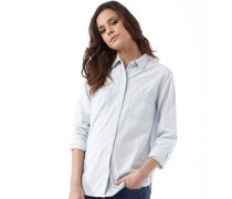 Levi's Damen Workwear Bluse Mit Langem Arm Hellblau