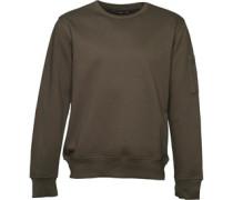 French Connection Mens Sleeve Pocket Sweater Khaki