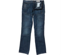 Crosshatch Herren Lopes Utility Midwash Jeans in regulär Passform Blau