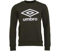 Active Style Sweatshirt Dunkelolivengrün