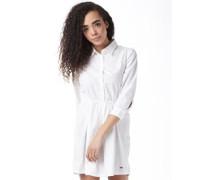 Damen ST Hemd Mit Langem Arm Weiß