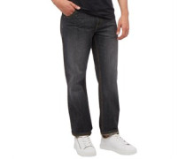 Herren Studding Jeans in Slim Passform Schwarz