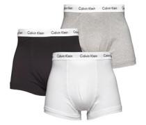 Calvin Klein Mens Three Pack Trunks White/Black/Grey