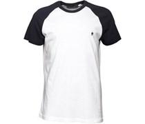 Herren Raglan T-Shirt Weiß