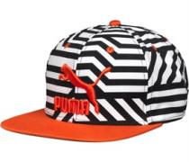 Puma Mens Colour Block Snap Back Cap Black/White