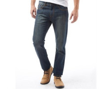 Herren Jeans in regulär Passform Dunkelblau