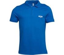 Moschino Mens Gym Polo Blue/White