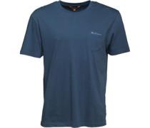 Herren Logo T-Shirt Blaumeliert