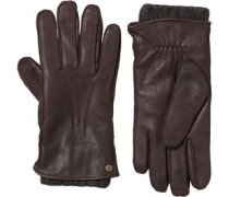 UGG Australia Womens 2 In 1 Whipstitch Glove Brown