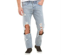Herren Buster 0852H Jeans mit zulaufendem Bein Hellblau