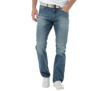 Kangaroo Poo Herren Jeans mit geradem Bein Blau
