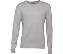 Herren 12G Pullover mit Rundhalsausschnitt Grau