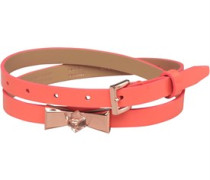 Ted Baker Womens Patty Crystal Bow Skinny Belt Orange