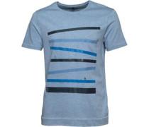 Original Penguin Mens Racing Stripe T-Shirt Faded Denim