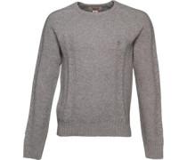 Original Penguin Mens 7GG Wool Blend Cable Knit Sweater Rain Heather