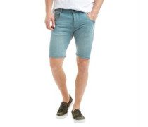Herren Kurtis Denim Shorts Blue Denim