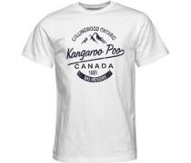 Kangaroo Poo Herren T-Shirt Weiß