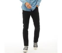 Jeans in Slim Passform Schwarz