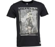 Firetrap Herren Linton Jet T-Shirt Schwarz
