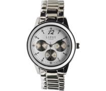 Lipsy Damen Chrono Detail Armbanduhr Silber
