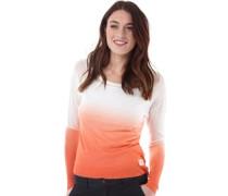 Damen Sarasota Dip Dye Pullover mit Rundhalsausschnitt Orange