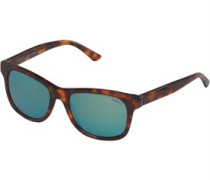 Herren Wayfarer Sonnenbrille Braun