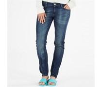 Damen Jeans Mittelblau