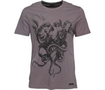 Herren Randy Skull Graphic T-Shirt Grau