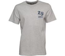 Herren Ball Game Back Print T-Shirt Graumeliert