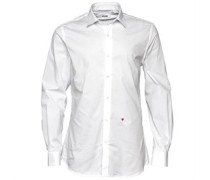 Herren Formal Smokinghemd White