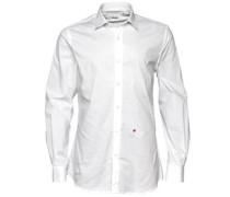 Herren Formal Smokinghemd Weiß/Rot