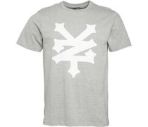 Zoo York Herren Empire Big Logo Athletic T-Shirt Grau