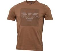 Armani Jeans Mens Crew Neck Logo T-Shirt Beige
