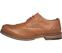 Herren Bale Leather Brogue Tan Brogue Schuhe Braun