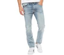 Herren Belther 0854Y Jeans mit zulaufendem Bein Leicht Steinwasch